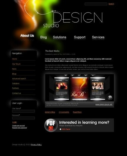 ADOBE Photoshop Template 50242 Home Page Screenshot