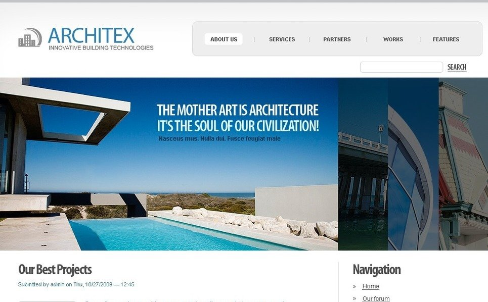Template Photoshop  para Sites de Arquitetura №50243 New Screenshots BIG