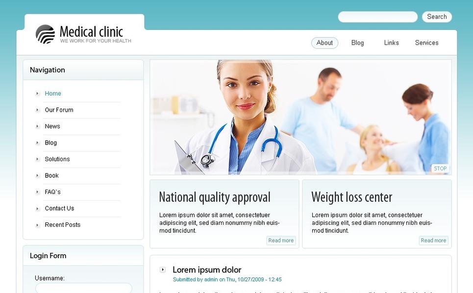 医学网站PSD模板 New Screenshots BIG