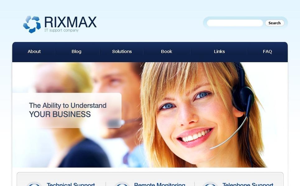 PSD šablona Informační technologie New Screenshots BIG