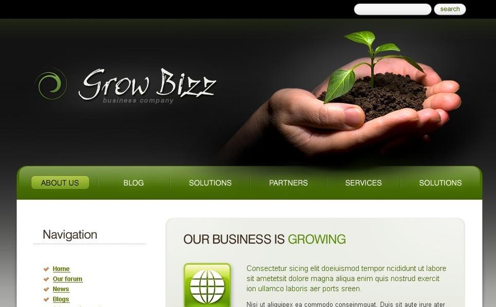 PSD шаблон №50258 на тему Бизнес и услуги New Screenshots BIG