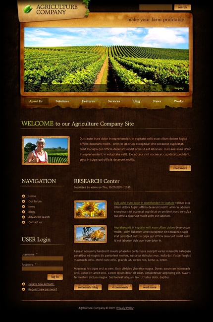 ADOBE Photoshop Template 50263 Home Page Screenshot