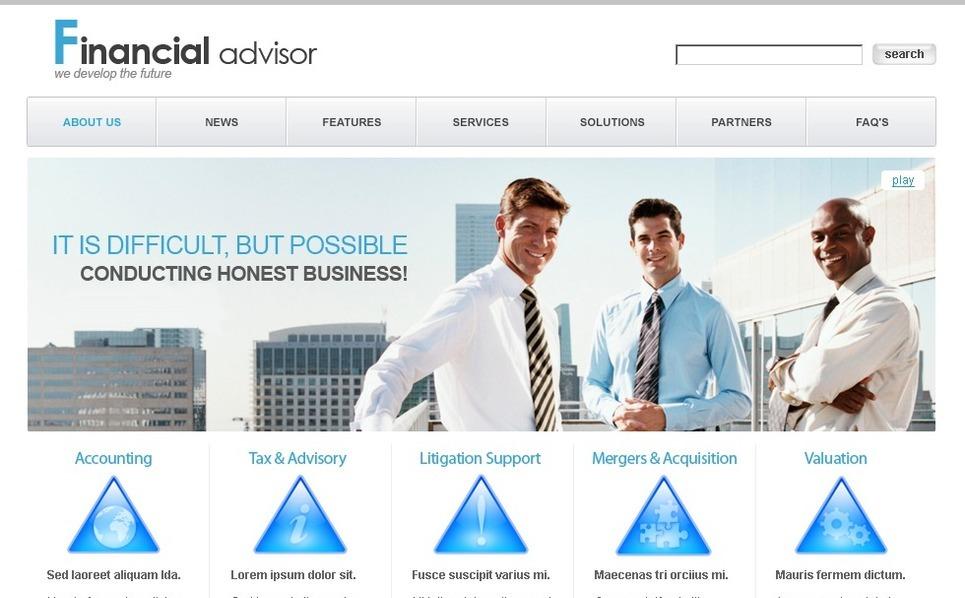Szablon PSD #50267 na temat: doradca finansowy New Screenshots BIG