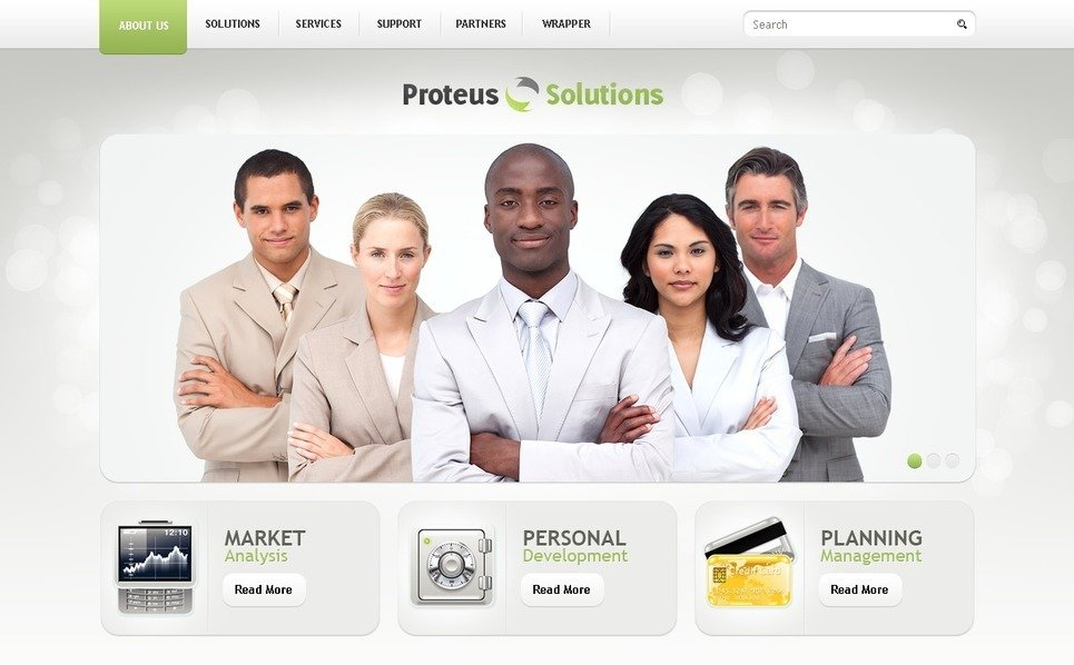 Szablon PSD #50269 na temat: usługi doradcze New Screenshots BIG