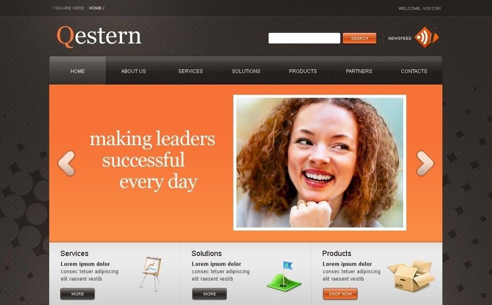 PSD шаблон №50273 на тему Бизнес и услуги New Screenshots BIG