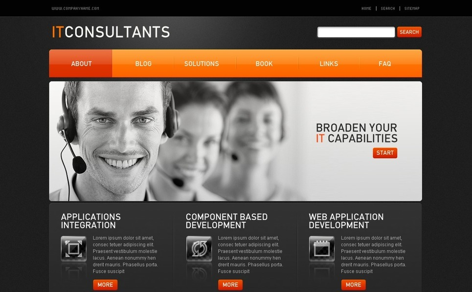 Modèle PSD  pour sites IT New Screenshots BIG