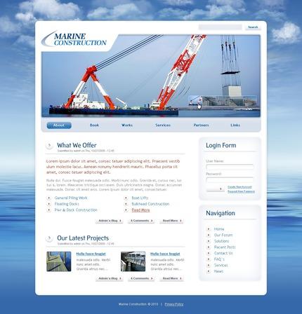 PSD макет сайта №50276