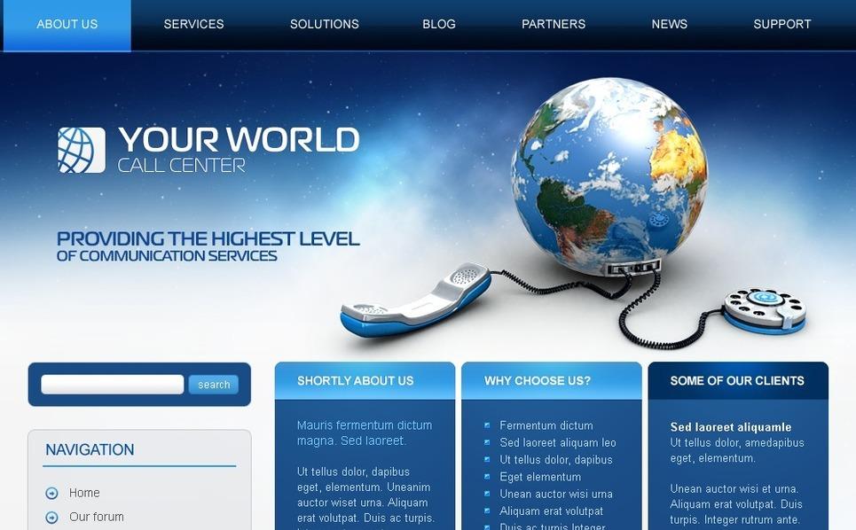 PSD шаблон на тему колцентр New Screenshots BIG