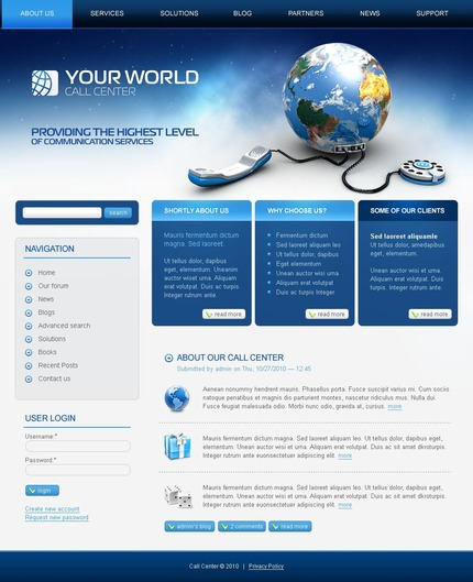 PSD макет сайта №50282