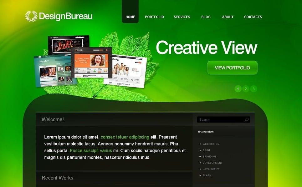 Szablon PSD #50295 na temat: studio projektowe New Screenshots BIG
