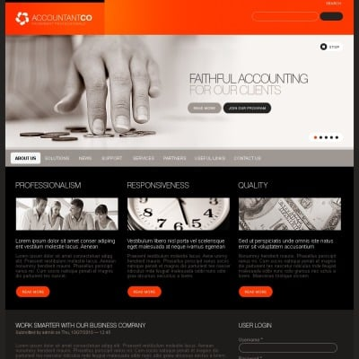 accounting psd templates