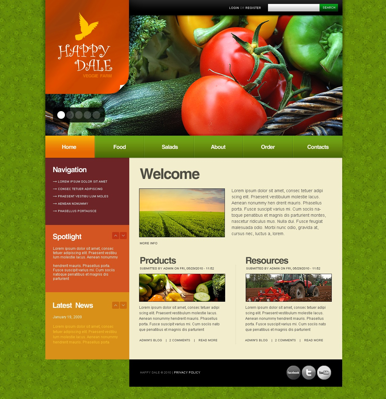 Farm PSD Template
