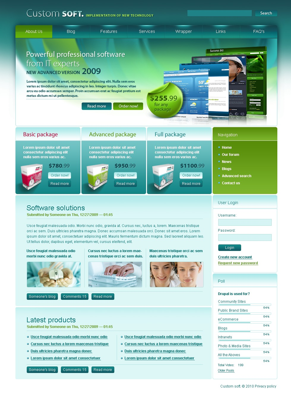 Software Store PSD Template