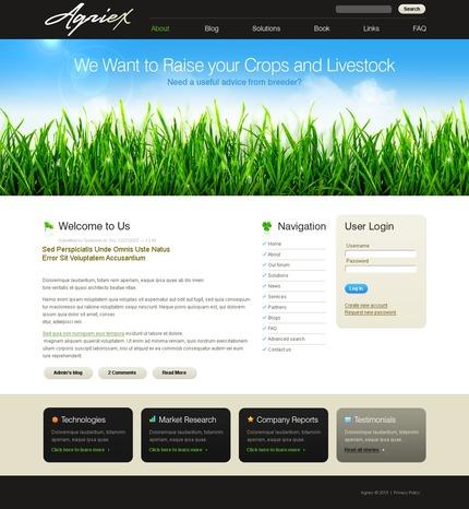 ADOBE Photoshop Template 50304 Home Page Screenshot