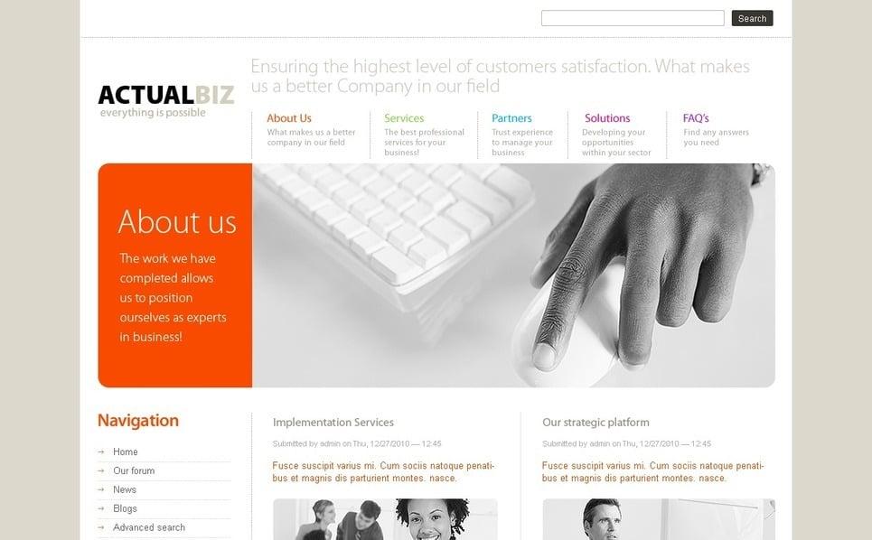 PSD шаблон №50306 на тему Бизнес и услуги New Screenshots BIG