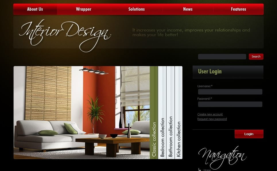 Template Photoshop  para Sites de Design Interior №50307 New Screenshots BIG
