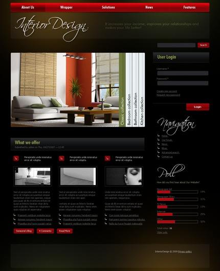 PSD макет сайта №50307