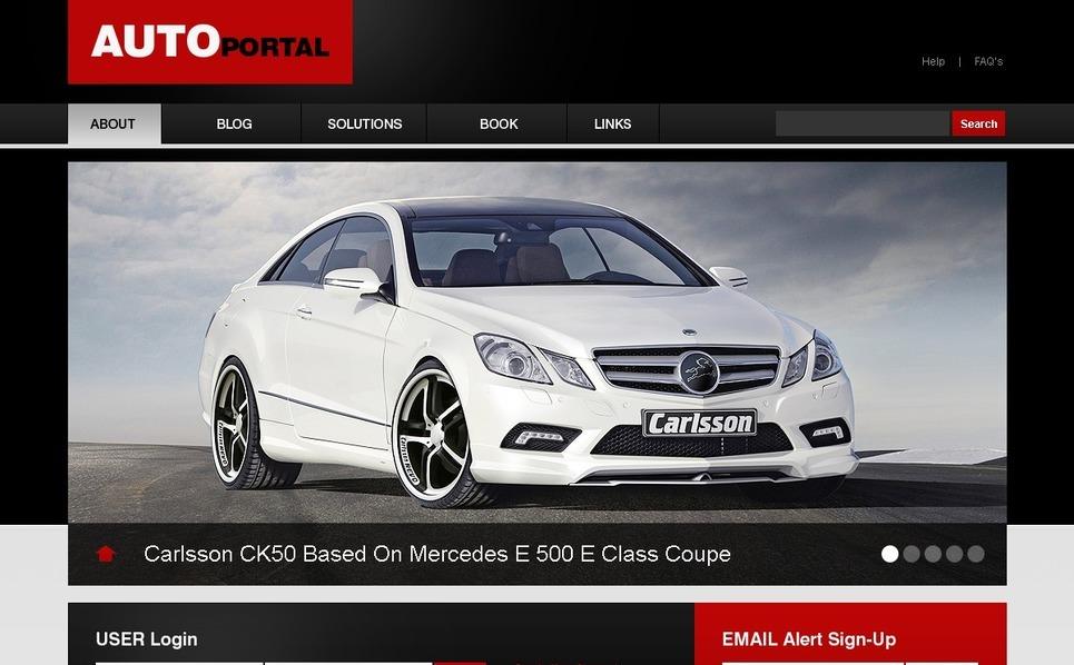 Plantilla PSD #50312 para Sitio de Club de coches New Screenshots BIG