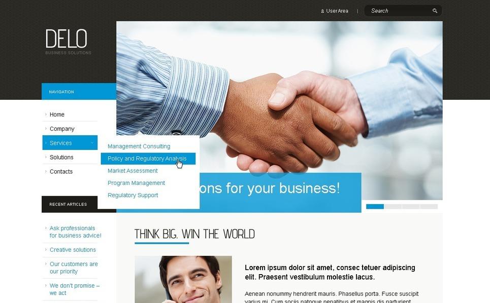 Tema PSD  #50313 per Un Sito di Business e Servizi New Screenshots BIG