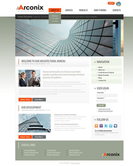 PSD макет сайта №50314