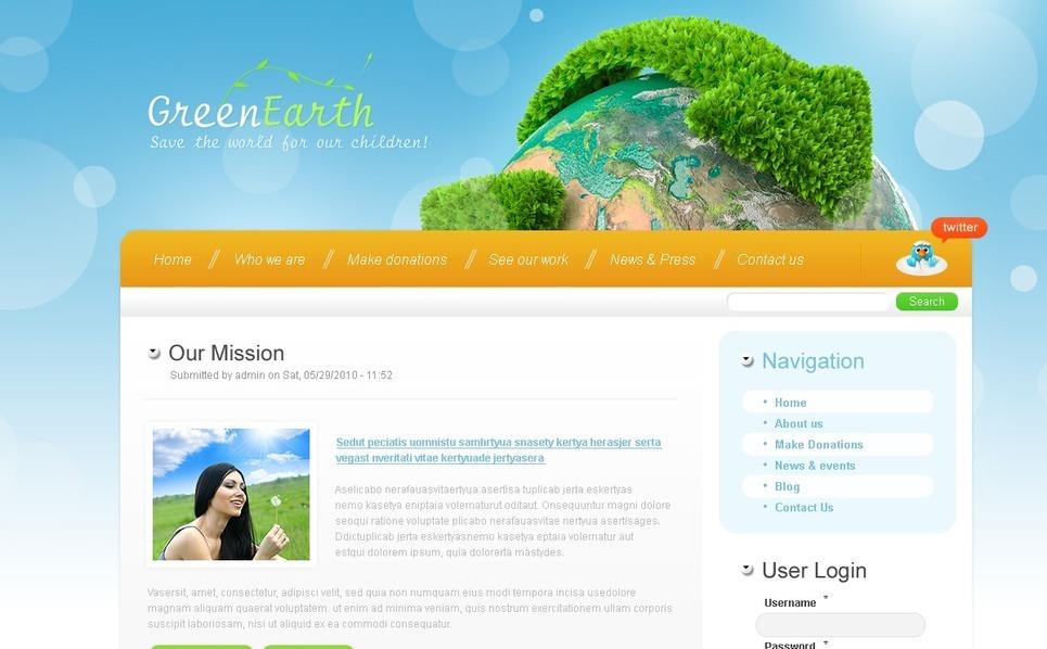 Plantilla PSD #50316 para Sitio de Caridad New Screenshots BIG