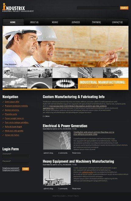 PSD макет сайта №50317