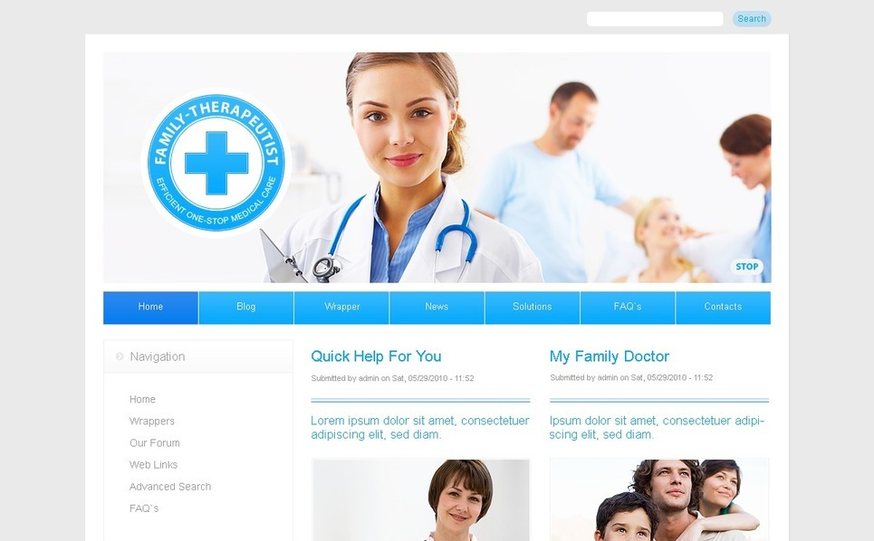 Template Photoshop  para Sites de Medico №50319 New Screenshots BIG