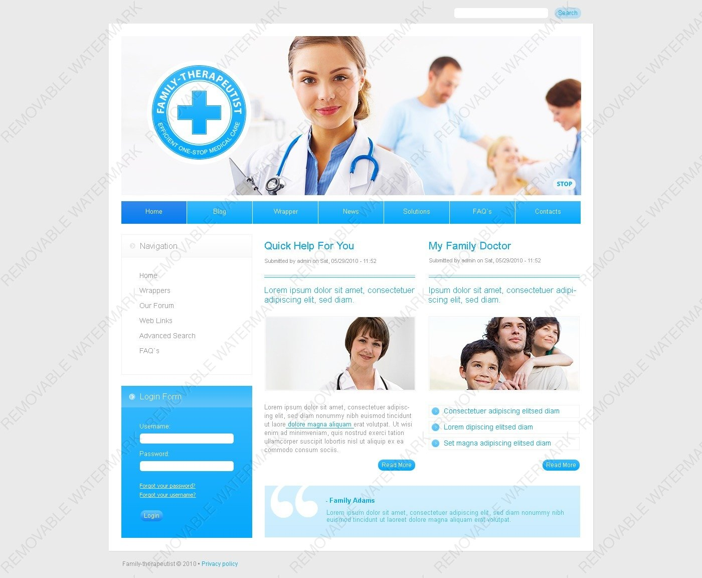 Demo preview for medical psd template 50319 pronofoot35fo Gallery