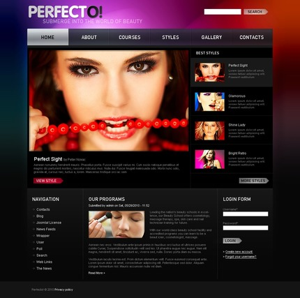 PSD макет сайта №50322