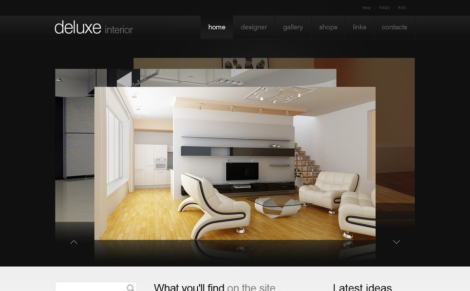 PSD шаблон №50326 на тему  дизайна интерьеров New Screenshots BIG