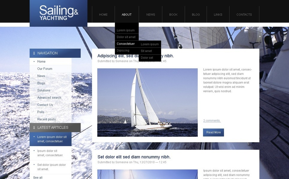 Modèle PSD  pour site de yachting New Screenshots BIG
