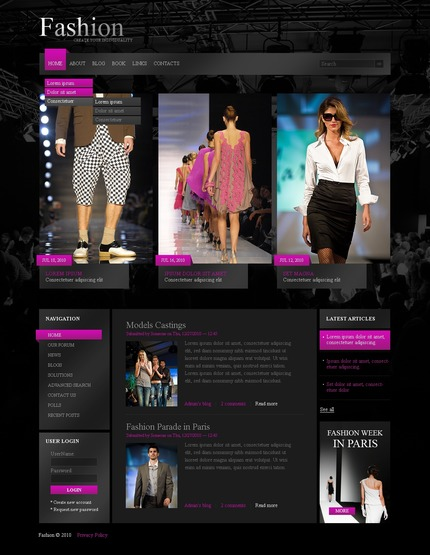 ADOBE Photoshop Template 50329 Home Page Screenshot