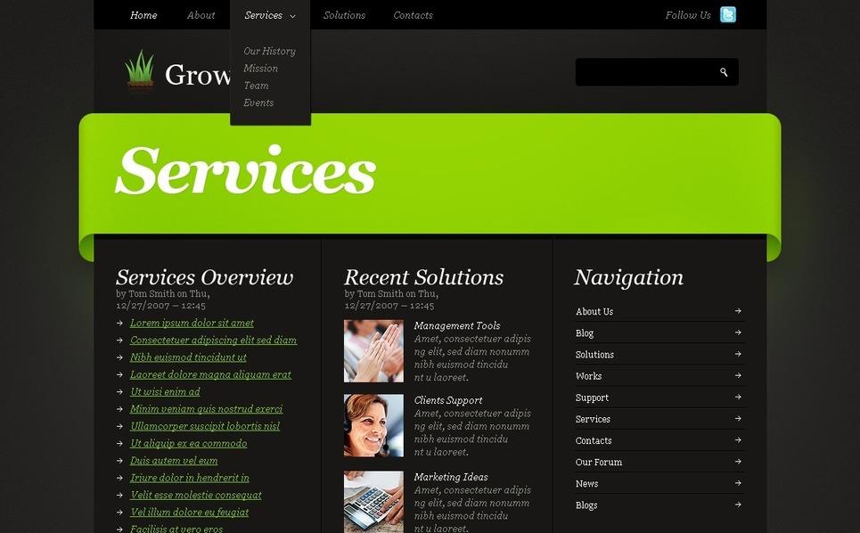 Plantilla PSD #50331 para Sitio de Negocio y Servicios New Screenshots BIG