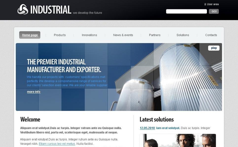 Template Photoshop  para Sites de Industrial №50333 New Screenshots BIG