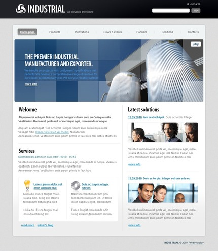 PSD макет сайта №50333