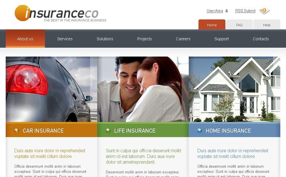 PSD Vorlage für Versicherung Homepage New Screenshots BIG