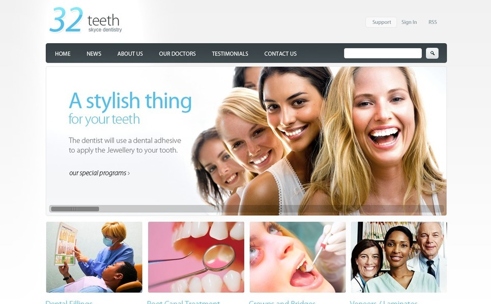 Modèle PSD  pour site de dentisterie New Screenshots BIG