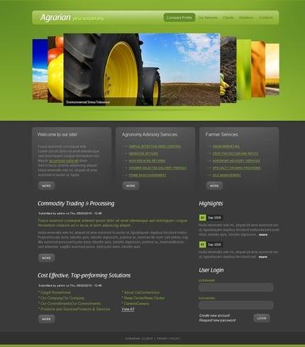 ADOBE Photoshop Template 50340 Home Page Screenshot