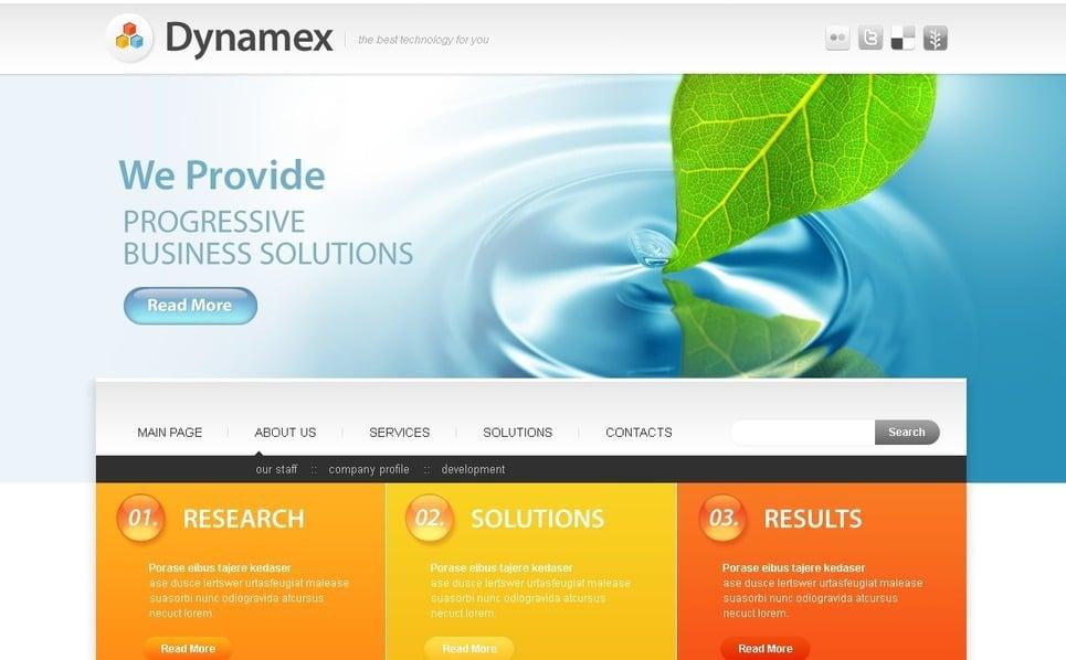 Tema PSD  #50343 per Un Sito di Business e Servizi New Screenshots BIG