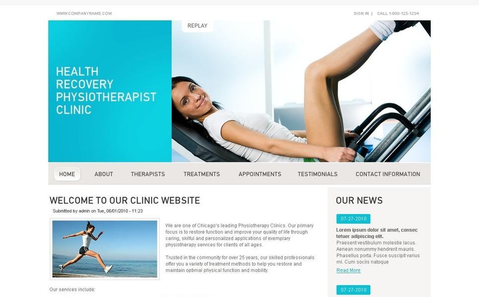 Template Photoshop  para Sites de Reabilitação №50345 New Screenshots BIG