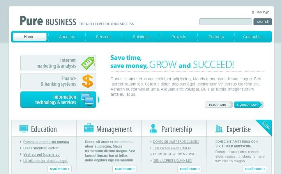 Plantilla PSD #50347 para Sitio de Negocio y Servicios New Screenshots BIG