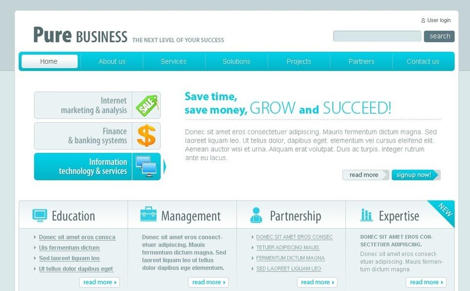 PSD šablona Byznys a služby New Screenshots BIG