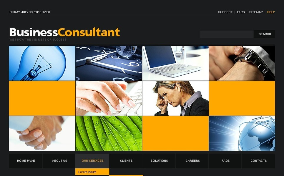 Template Photoshop  para Sites de Consultoria №50348 New Screenshots BIG