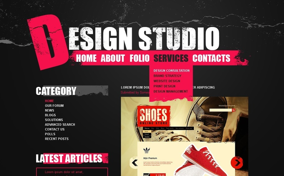 Szablon PSD #50351 na temat: web design New Screenshots BIG