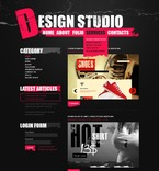 Web design PSD  Template 50351