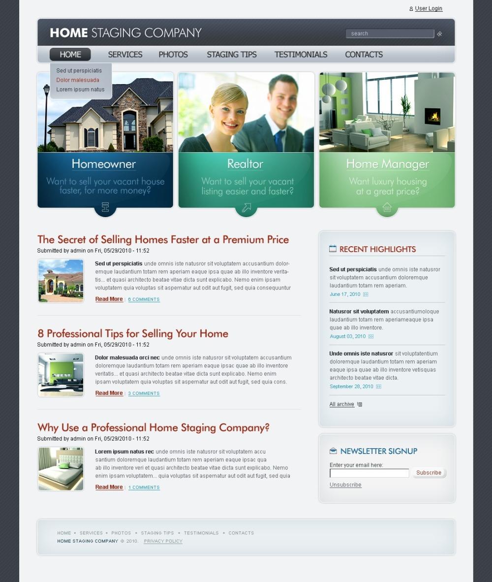 Flash 8 PSD Template   Website Templates