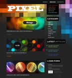 Web design PSD  Template 50356