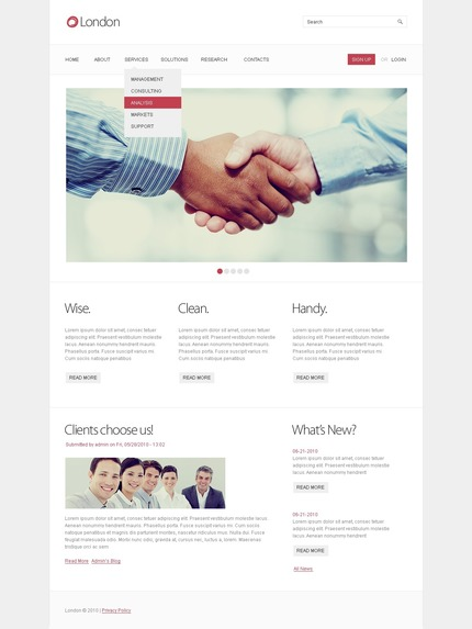 ADOBE Photoshop Template 50359 Home Page Screenshot