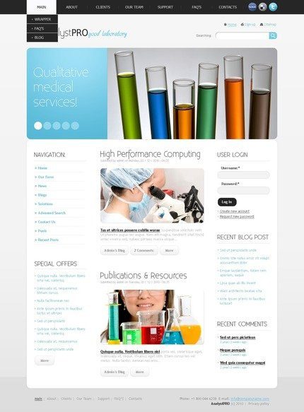 ADOBE Photoshop Template 50360 Home Page Screenshot