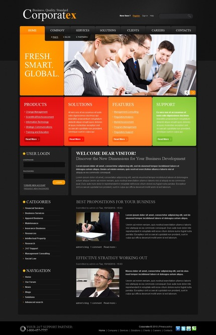 ADOBE Photoshop Template 50361 Home Page Screenshot